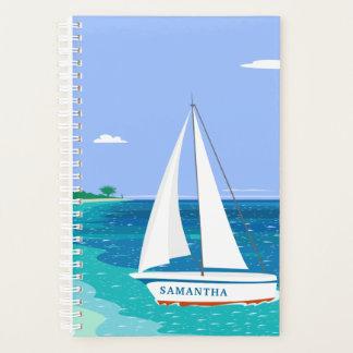 Monogramm-Segelboot-Ozean Seaview 5.5x8.5 Planer