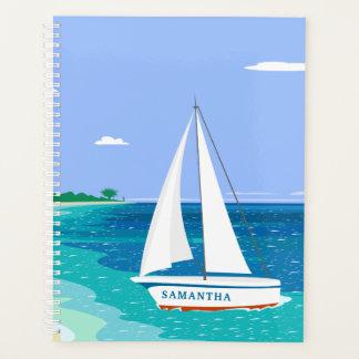 Monogramm-Segelboot-Ozean Seaview 8.5x11 Planer