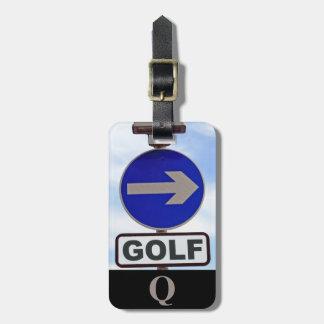 Monogramm-Sport-Golf-Zeichen-Gepäck-Reise Gepäckanhänger