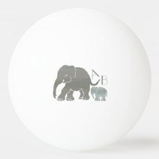 Monogramm-stilvolle graue und olivgrüne Elefanten Tischtennis Ball