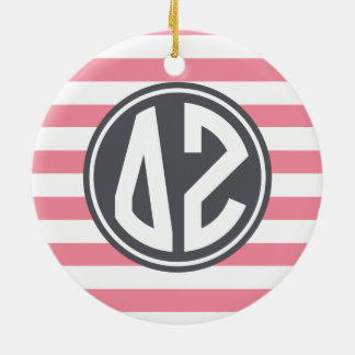 Monogramm-Streifen-Muster des Deltazeta-| Keramik Ornament