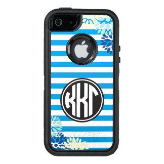 Monogramm-Streifen-Muster des Kappa-Kappa-Gamma-  OtterBox iPhone 5/5s/SE Hülle