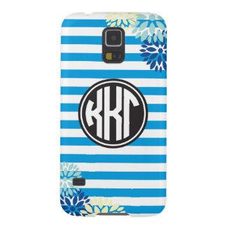 Monogramm-Streifen-Muster des Kappa-Kappa-Gamma-| Samsung Galaxy S5 Cover