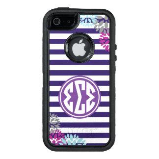 Monogramm-Streifen-Muster des Sigma-Sigma-Sigma-  OtterBox iPhone 5/5s/SE Hülle