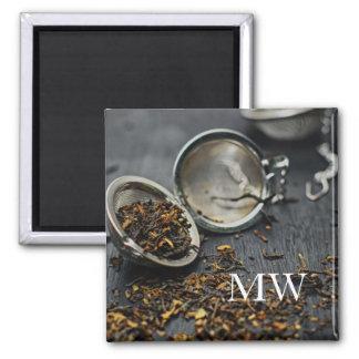 Monogramm-Tee Quadratischer Magnet