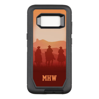 Monogramm-Telefon-Hüllen Arizona-Sonnenuntergangs OtterBox Defender Samsung Galaxy S8 Hülle