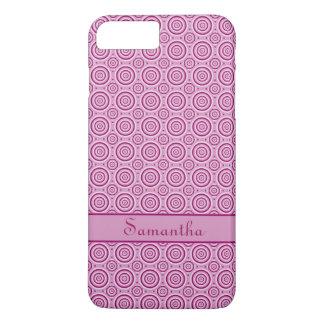 Monogramm-Telefon-Hüllen des Kreis-Musters iPhone 8 Plus/7 Plus Hülle