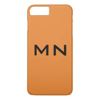 Monogramm/Telefon-Kasten/Orange iPhone 8 Plus/7 Plus Hülle