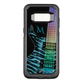 Monogramm-Türkis-E-Gitarren-Musik OtterBox Commuter Samsung Galaxy S8 Hülle