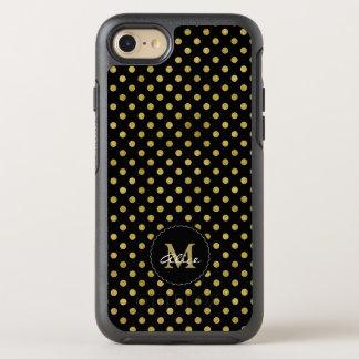 Monogramm-u. des Namen-| Tupfen-Gold OtterBox Symmetry iPhone 8/7 Hülle