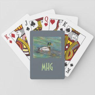 Monogramm-und Foto-Schablonen-Spielkarten Spielkarten