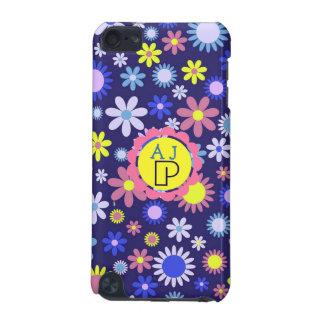 Monogramm-Vintage Pop-Kunst-Art-Blumenmuster iPod Touch 5G Hülle