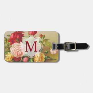 Monogramm-Vintage viktorianische Kofferanhänger