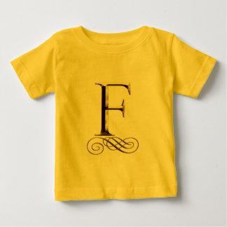 """Monogramm VIP-Gold"""" F"""" Baby T-shirt"""