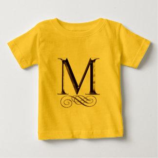 """Monogramm VIP-Gold"""" M"""" Baby T-shirt"""