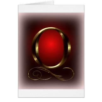 """Monogramm VIP-Gold """"O"""" im Rot und im Schwarzen Karte"""