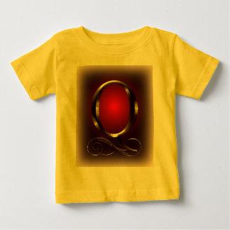 """Monogramm VIP-Gold """"Q"""" im Rot und im Schwarzen Baby T-shirt"""