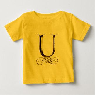 """Monogramm VIP-Gold"""" U"""" Baby T-shirt"""
