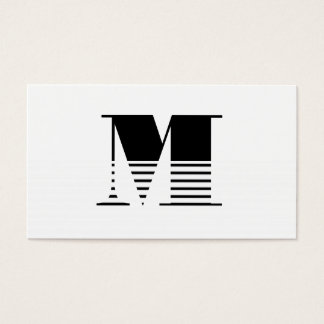 Monogramm Visitenkarte
