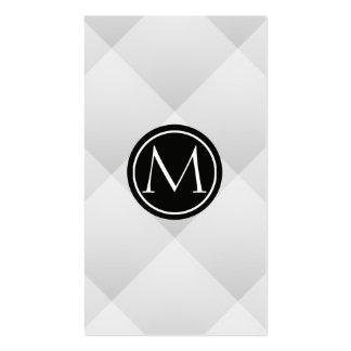 Monogramm Visitenkarten