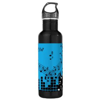 Monogramm-Wasserflaschen der Musik-Illustration Trinkflasche
