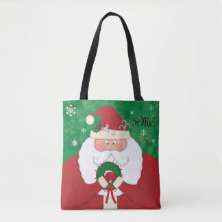 Monogramm Weihnachtsabends Sankt Tasche