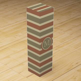 Monogramm-Wein-Geschenkboxen des Streifen-Musters Wein-Geschenkverpackung