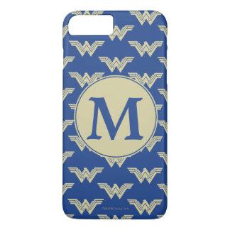 Monogramm-Wunder-Frauen-Logo-Muster iPhone 8 Plus/7 Plus Hülle