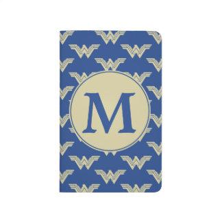 Monogramm-Wunder-Frauen-Logo-Muster Taschennotizbuch
