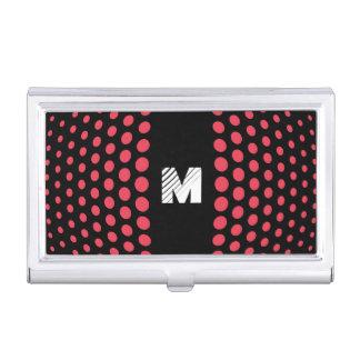Monogramm-Wunsch-Tupfen-Muster Visitenkarten Dose