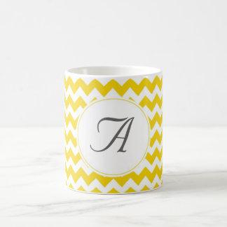 Monogramm-Zickzack Initialen Kaffeetasse