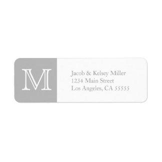 MonogrammAdressen-Etikett Kleiner Adressaufkleber