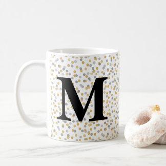 MonogrammConfetti Kaffeetasse