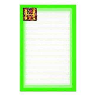 Monogramme: Stainglass H Briefpapier