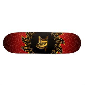 Monogrammentwurf N Skateboard Brett