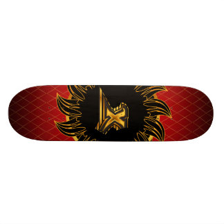 Monogrammentwurf X Personalisiertes Skateboarddeck