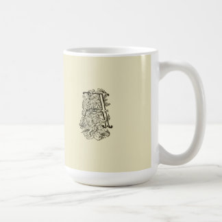 Monogrammglyph-Initialen-extravagante Vintage Kaffeetasse