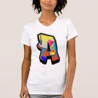 Monogrammgraffiti-Buchstabe ein T - Shirt