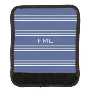 Monogrammgriffmarineverpackung der blauen Streifen Gepräckgriffwickel