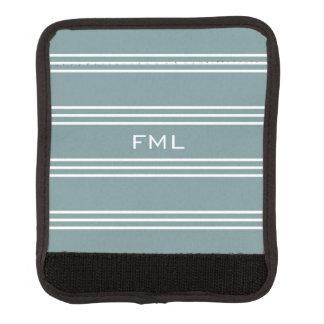 Monogrammgriffstahlverpackung der blauen Streifen Gepräckgriffwickel