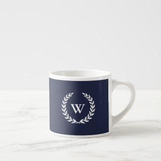 Monogrammklassische elegante blaue Espresso-Tasse Espressotasse