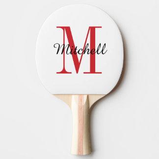 Monogrammpersonalisiertes Ping Pong Paddel Tischtennis Schläger
