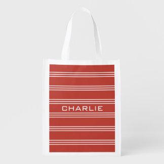 Monogramms der Tomate-wiederverwendbare Tasche des Wiederverwendbare Einkaufstasche