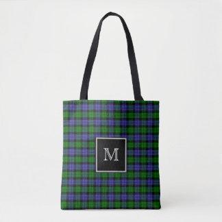 MonogrammTartan Tasche