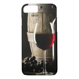 Monogrammtelefon-Hüllen des Wein-Liebhabers iPhone 8/7 Hülle