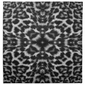 MonoKaleidoskopleopard-Pelzmuster Stoffserviette