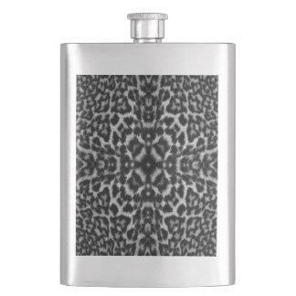 Monoleopardhautpelz-Musterflasche Flachmann