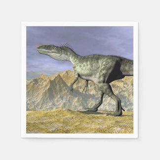 Monolophosaurusdinosaurier in der Wüste - 3D Papierserviette
