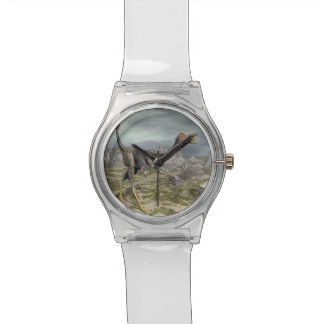 Mononykus Dinosaurier in der Wüste - 3D übertragen Armbanduhr