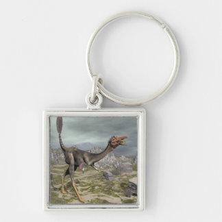 Mononykus Dinosaurier in der Wüste - 3D übertragen Schlüsselanhänger